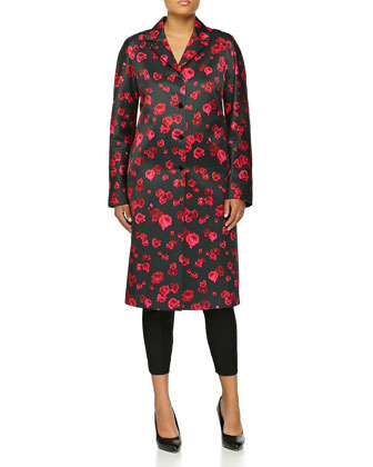 Pansy Duchesse Coat, Rose/Black