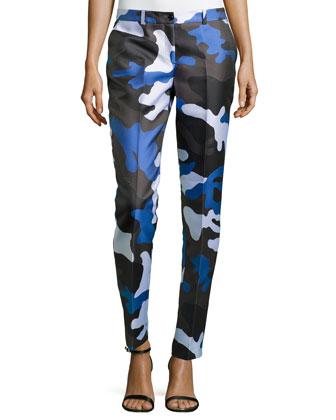 Samantha Skinny Camouflage Pants, Royal Multi