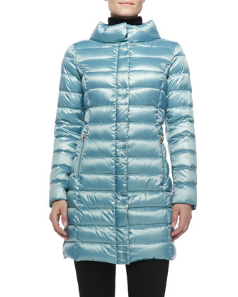 Palermo Puffer Coat, Light Blue