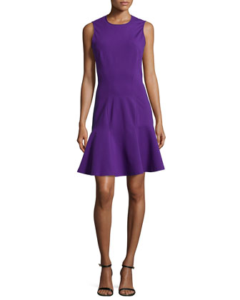 Sleeveless Flounce Dress, Grape