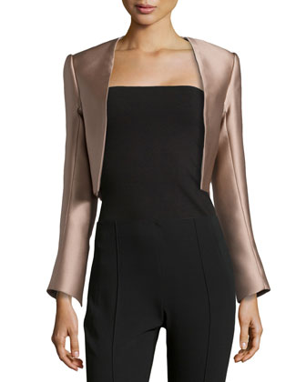 Scuba Satin Jacket, Taupe