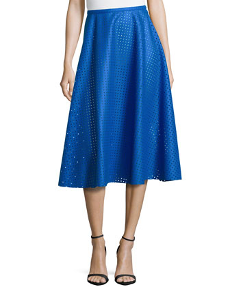 Felt Perforated Circle Skirt, Royal