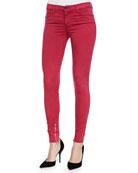 Mid-Rise Luxe Sateen Zip-Cuff Jeans,Redburn