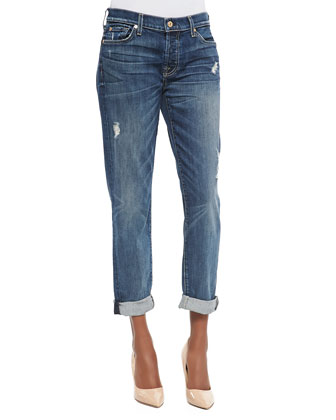 Josefina Distressed Boyfriend Jeans, Movember