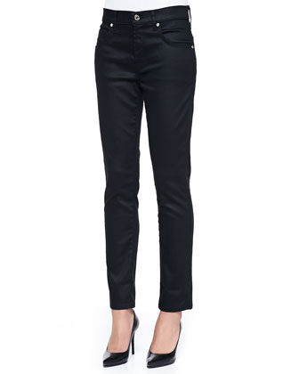 Slick Relaxed Skinny Jeans, Black