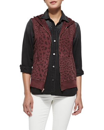 The Sleeveless Leopard-Print Hoodie, The Perfect Stud-Shoulder Shirt & The ...