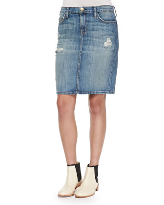 The Stiletto Denim Pencil Skirt