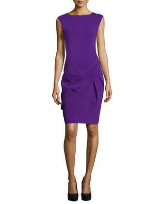 Draped Sheath Dress, Grape