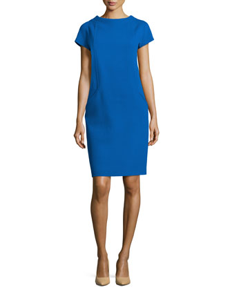 Boucle Shift Dress, Royal