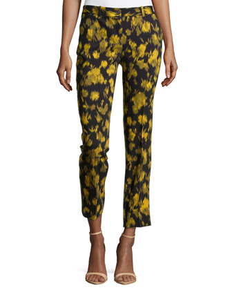Samantha Leaf-Print Pants