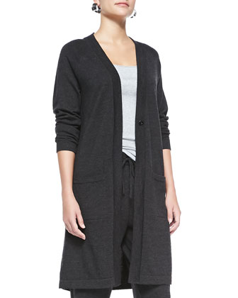 Merino Wool Long-Sleeve Cardigan, Organic-Cotton Slim Tank, Slouchy ...