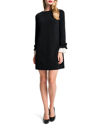 Willa Mini Dress W/ Pleated Cuffs