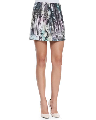 Enchanted Forest Printed Miniskirt