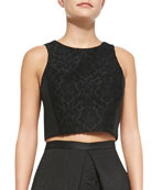 Worth Embroidered Cropped Top