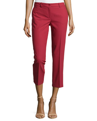 Samantha Cropped Skinny Pants, Rose
