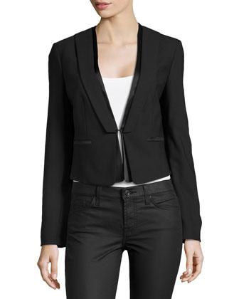 Short Tuxedo Jacket, Black
