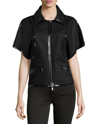 Sculpted Wool Taped Jacket, Black
