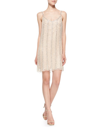 Hayden Sleeveless Beaded Pattern Cocktail Dress