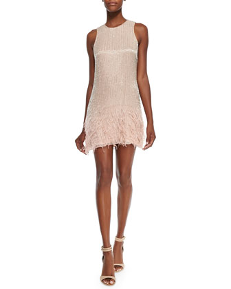 Allegra Sleeveless Beaded Cocktail Dress