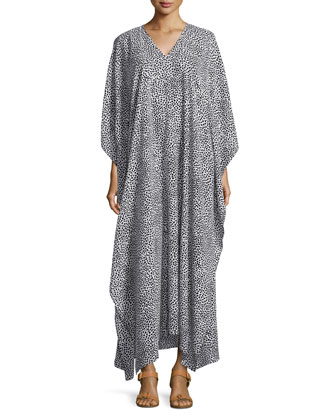 Animal-Print Georgette Caftan