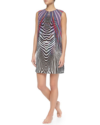 Rainbow/Zebra-Print Tunic Dress