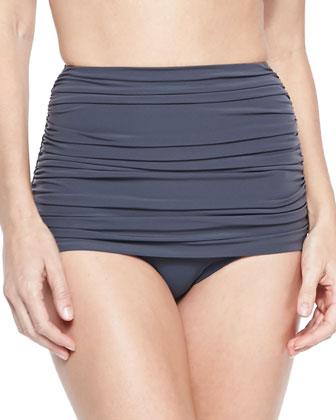 Shirred Halter Bikini Top, Bottom & Swim Skirt