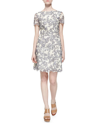 Shirley Floral-Print Hooded Jacket & Summer Two-Tone Lace Dress