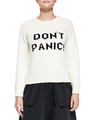 Don't Panic! Knit Crewneck Sweater