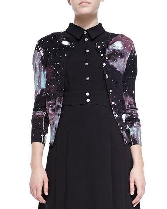 Stargazer Printed Knit Cardigan