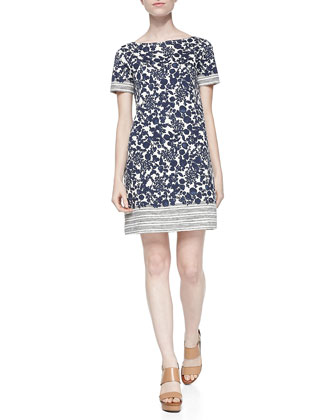 Elisabeth Printed Shift Dress