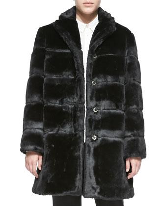 Airglow Boxy Faux-Fur Coat