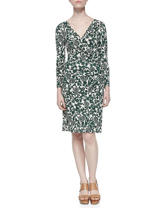Michele Vine Jersey Draped Dress