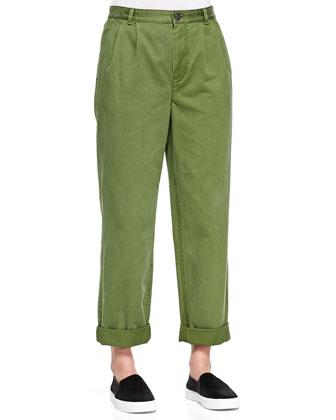 Classic Cotton Stripe Trousers
