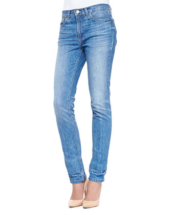Drainpipe Faded Slim Denim Jeans