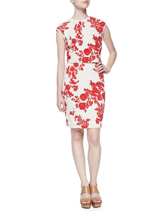 Lydie Flora-Print Layered Top Dress
