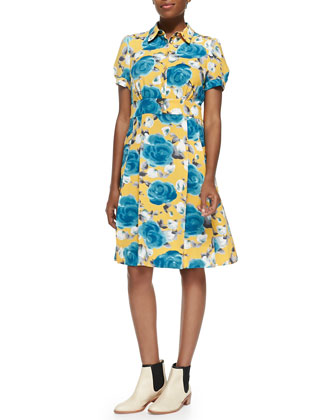 Jerrie Rose Crepe Tea Dress