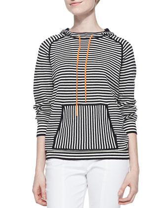 Geraldine Hooded Striped Sweater