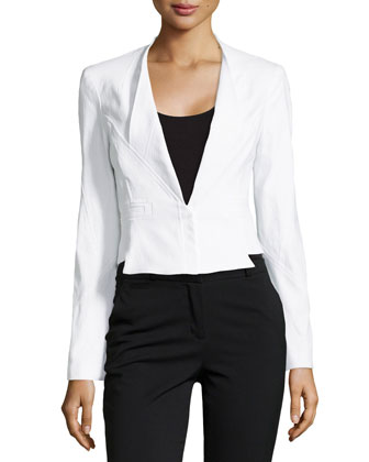 Cropped Seamed Suiting Jacket