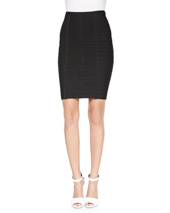 Signature Essential Bandage Skirt, Black