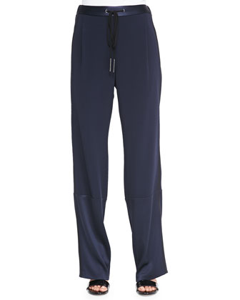 Track Pants with Drawstring, Midnight