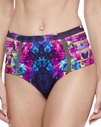 Bocas Cross-Neck Swim Top, Chloe Warrior Floral High Bikini Bottom, Nepal ...