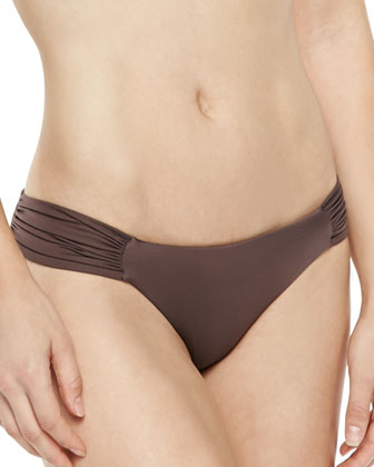 Amber Twisted Bandeau Swim Top & Antibes Ruch-Side Swim Bottom