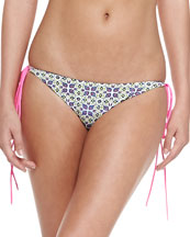 Reversible String Bikini Top & Tie-Side Swim Bottom
