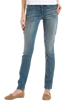 Distressed Dirty Wash Skinny Jeans