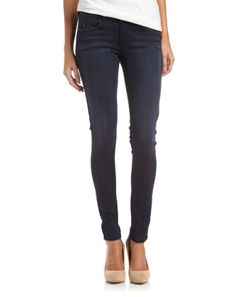 Touch Stretch Dark-Wash Skinny Jeans, IYG