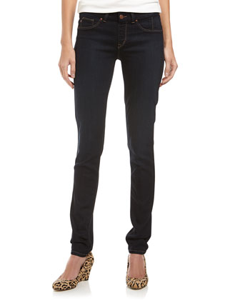 360 Skinny Pull-On Jeans, Dark Wash