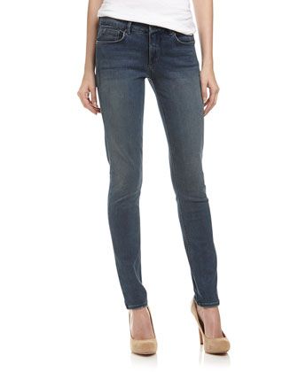 Stretch Skinny Jeans, Dirty Wash