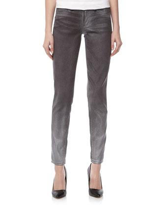 Super Skinny Shimmer Jeans, Gray