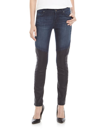 Two-Fold Skinny Jeans