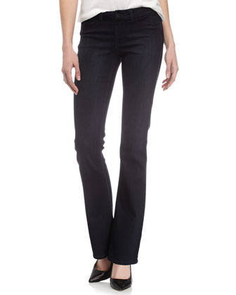 Slim Boot-Cut Jeans, Dark Blue
